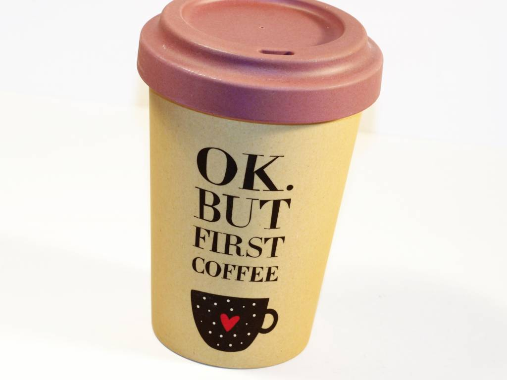 """BambooCup Bamoo Cup """"but first coffee"""" wiederverwendbarer Coffee-to-go Becher"""