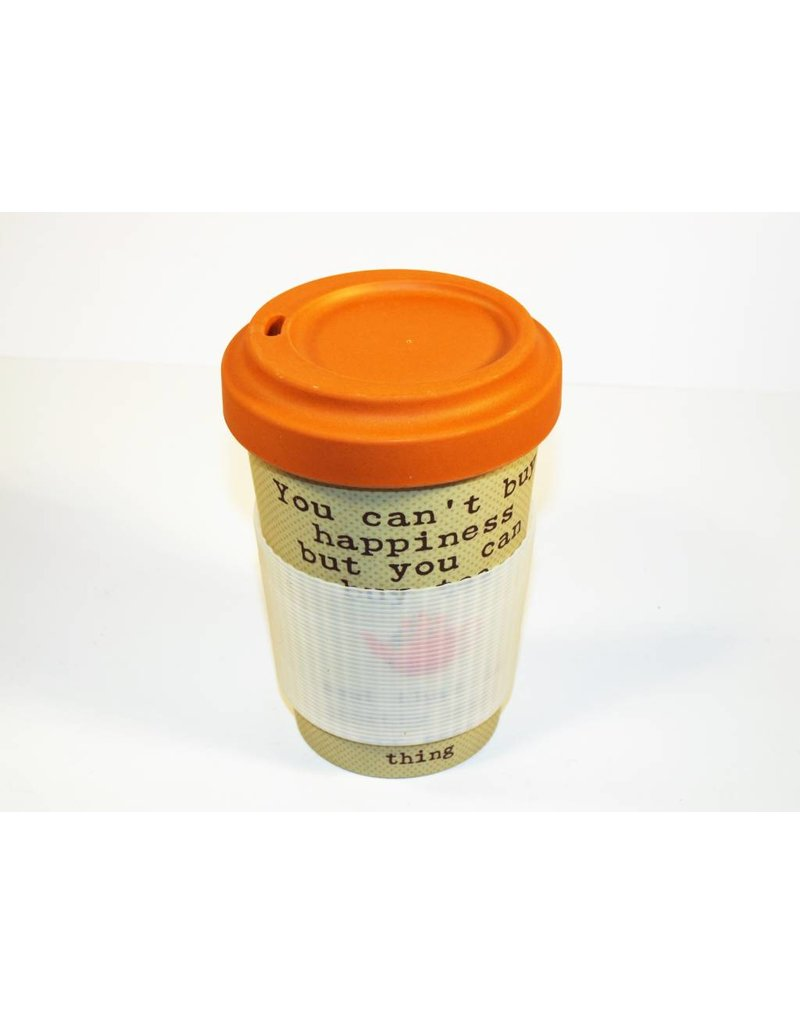 "BambooCup Bamboo-Cup ""Tea happiness"" wiederverwendbarer Coffee-to-go Becher"