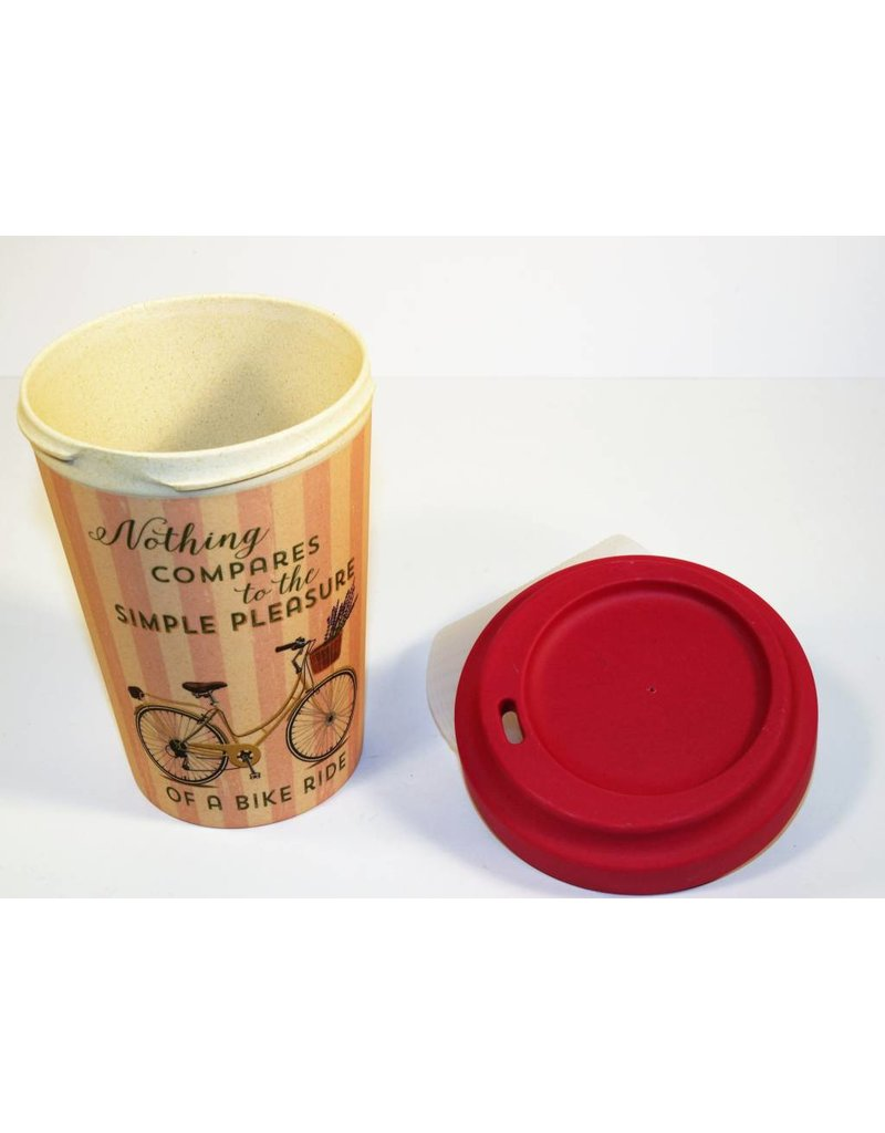 "BambooCup Bamboo Cup ""Bike Pleasure"" wiederverwendbarer Coffee-to-go Becher"