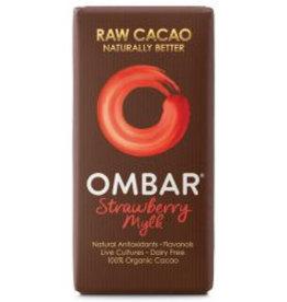 OMBAR Roh-Schokolade BioLive Erdbeere & Cream