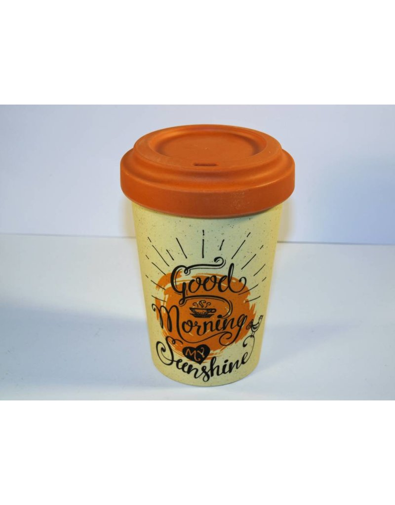 "BambooCup Bamboo-Cup ""Good morning sunshine"" wiederverwendbarer Coffee-to-go Becher"