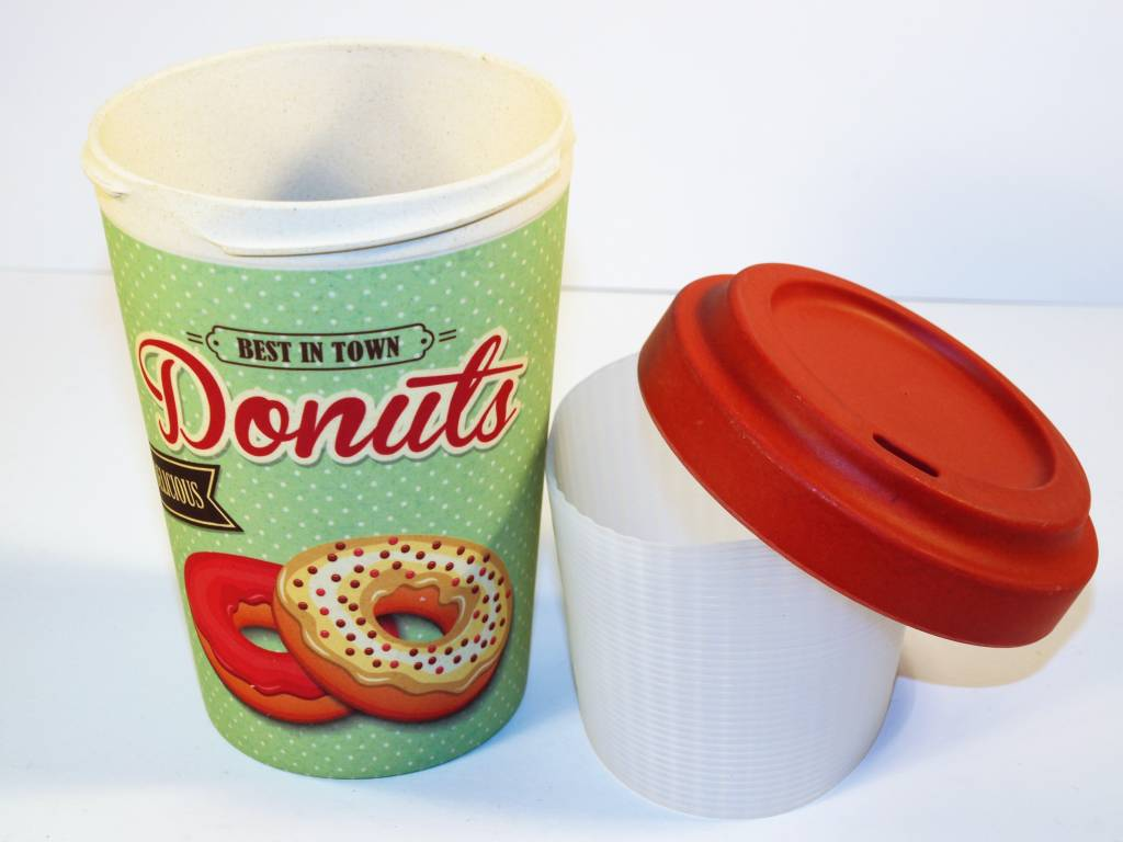 "BambooCup Bamboo-Cup ""Best donuts"" wiederverwendbarer Coffee-to-go Becher"