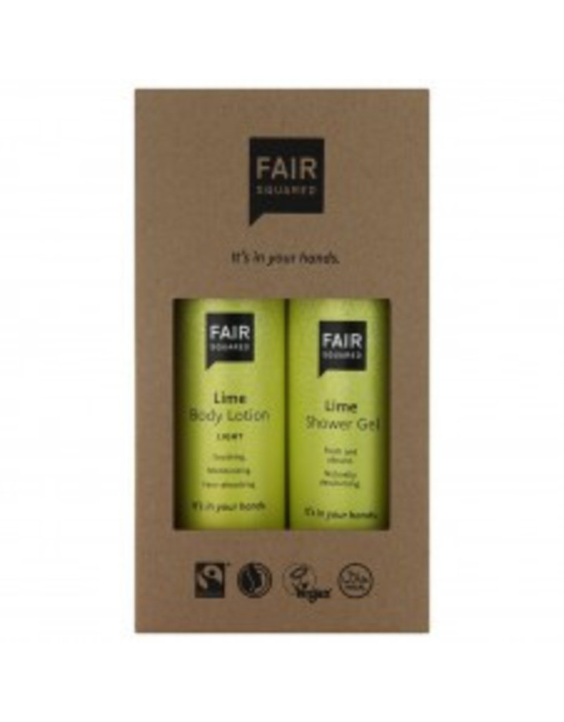 fair squared Beauty Box Lime - vegan - Bio- fair trade & halal