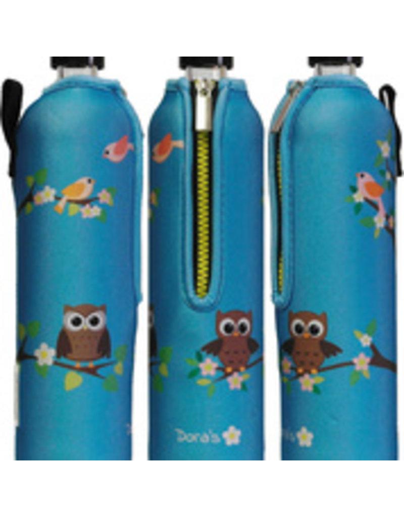 Biodora Glasflasche mit Neoprenbezug - EULE