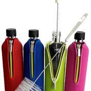 Biodora Glasflasche mit Neoprenbezug - Grün in 500 ml oder 700 ml