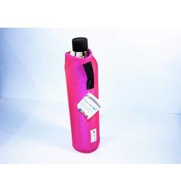 Biodora Glasflasche mit Neoprenbezug - PINK