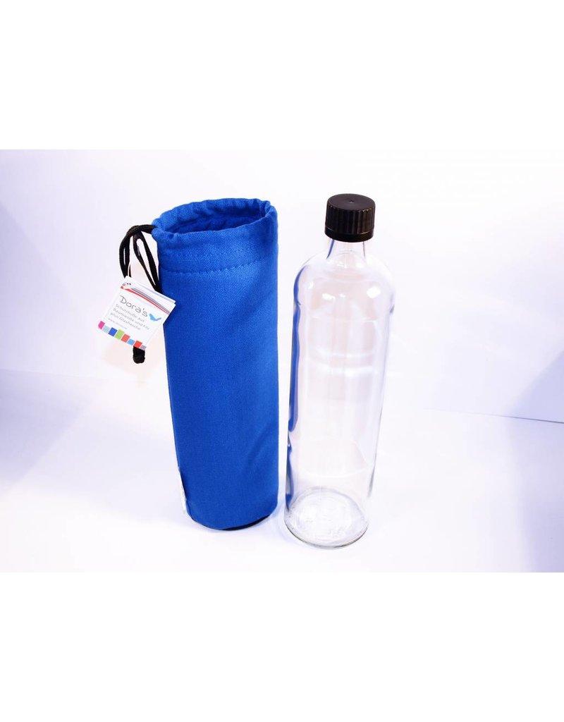 glasflaschen mit blauem bezug zugband veglifeenterprise gmbh. Black Bedroom Furniture Sets. Home Design Ideas