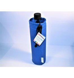 Biodora Glasflasche mit blauem Bezug