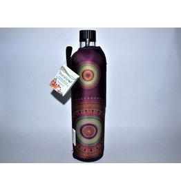 Biodora Glasflasche mit Neoprenbezug Design Mandala
