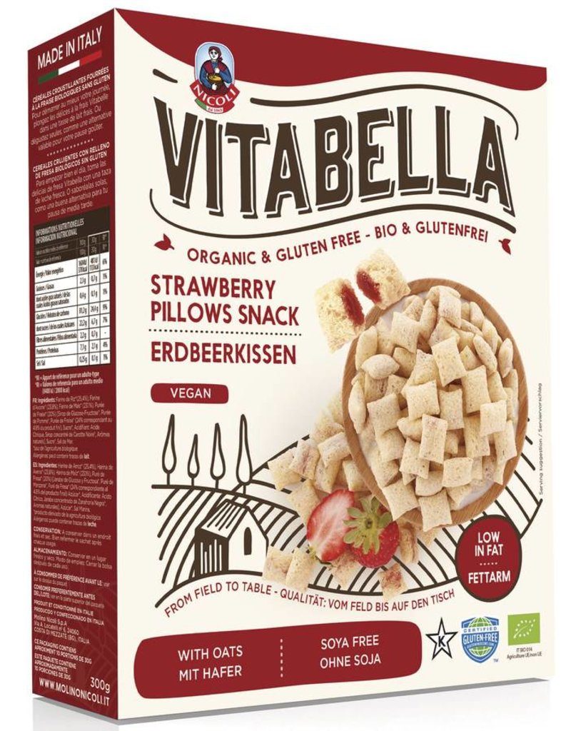 Vitabelle Erdbeerkissen 300 gr glutenfrei