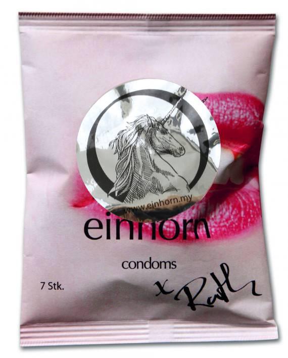 Einhorn Kondome in Chipstüte 7 Stück #forbiddenkiss