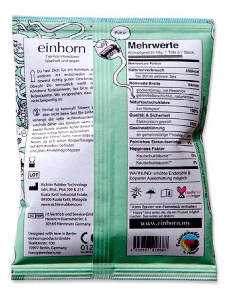 Einhorn Kondome in Chipstüte 7 Stück Spermamonster