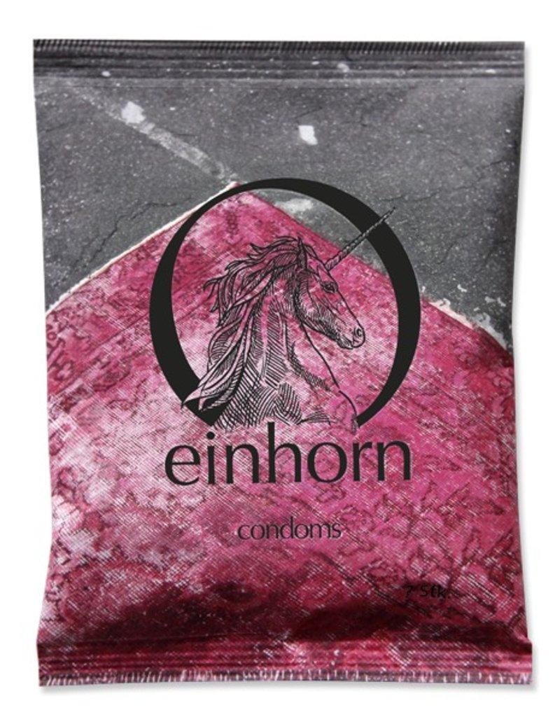 Einhorn Kondome in Chipstüte 7 Stück Love on the Rugs