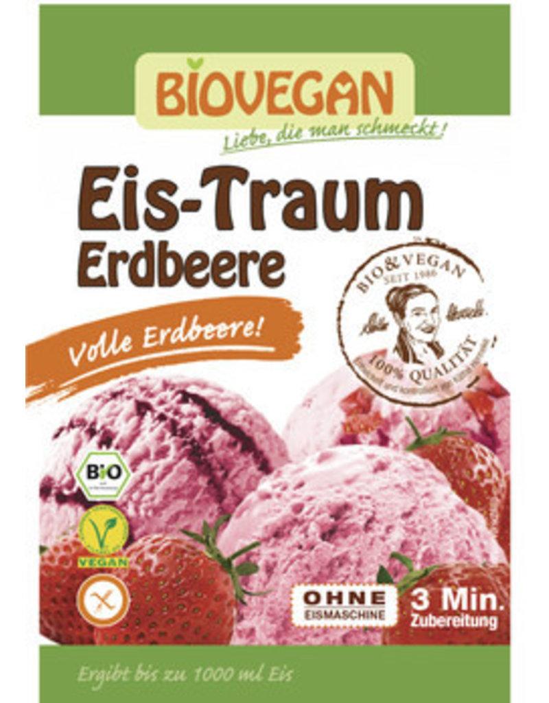 Biovegan Eis-Traum Erdbeere - glutenfrei