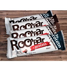 Roo´bar 2 Protein Riegel Chia & Spirulina + 2 Protein-Riegel Chia & Chocolate