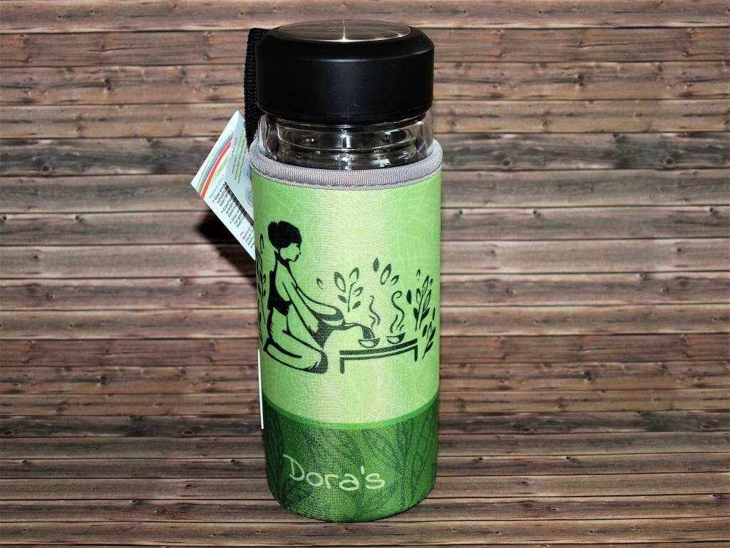 Biodora Dora´s Tea to go Glasbecher mit Neoprenbezug