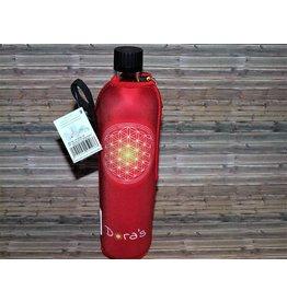 Biodora Blume des Lebens Trinkflasche mit Neoprenbezug