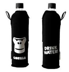 Biodora Glasflasche mit Neoprenbezug Design Gorilla