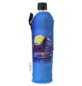 Biodora Glasflasche mit Neoprenbezug Design Poe