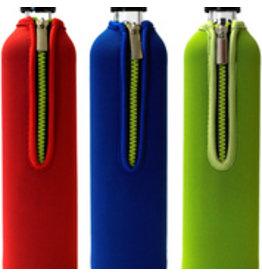Biodora Glasflasche mit blauem Neoprenbezug 500 ml oder 700 ml