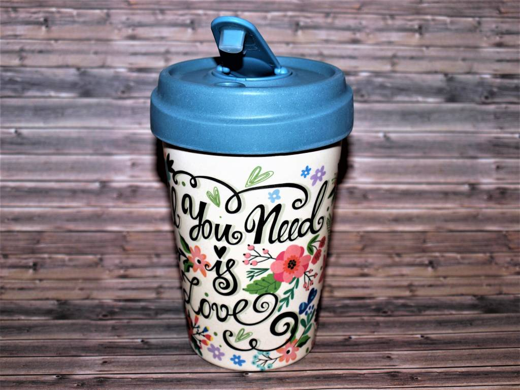 """BambooCup Bamboo-Cup """"all you need is love"""""""