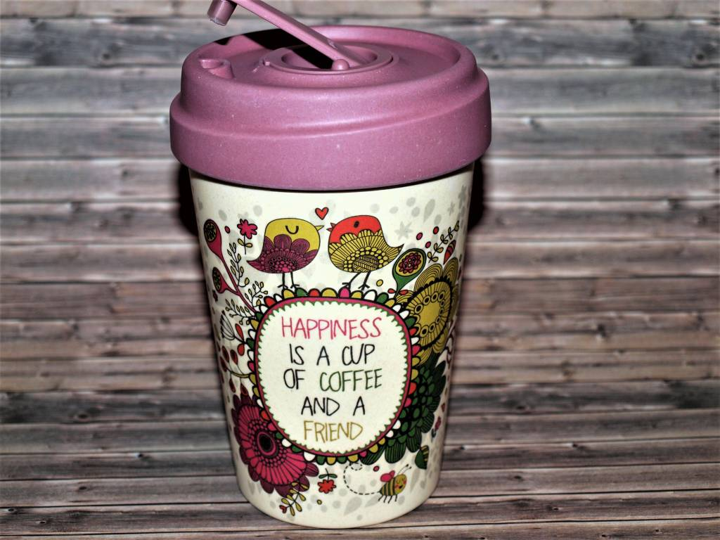 """BambooCup Bamboo-Cup """"Coffee Happiness"""""""