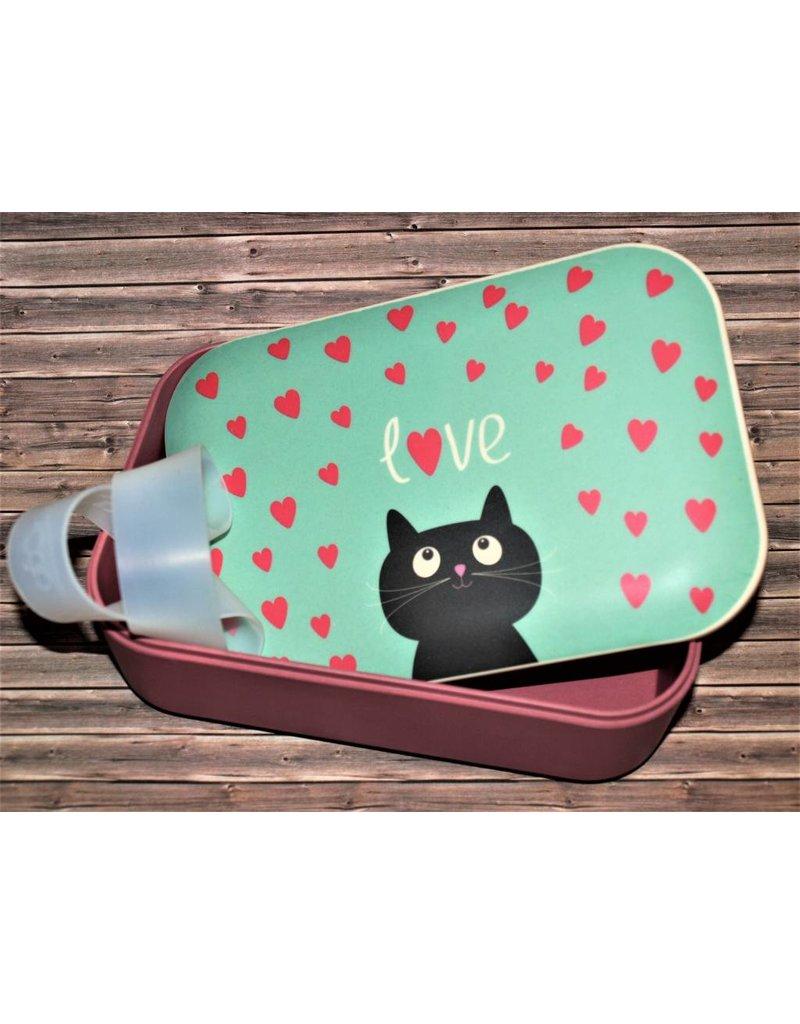 BambooCup Lunchbox Cat aus Bambus