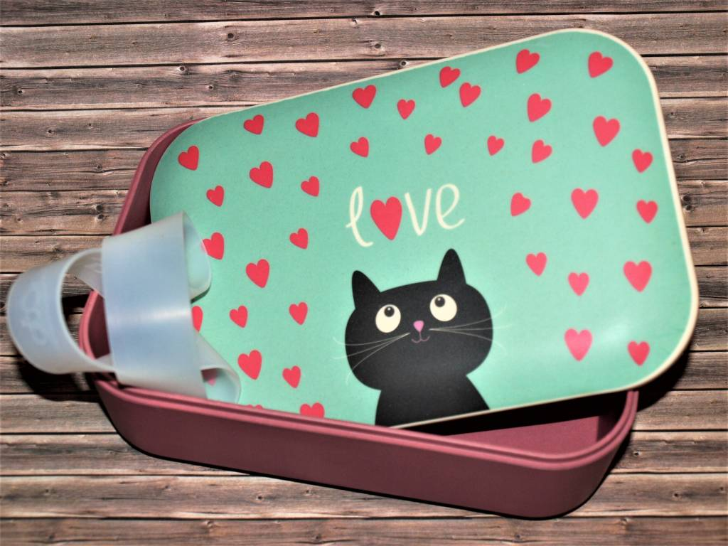 BambooCup Lunchbox Cat aus Bambus