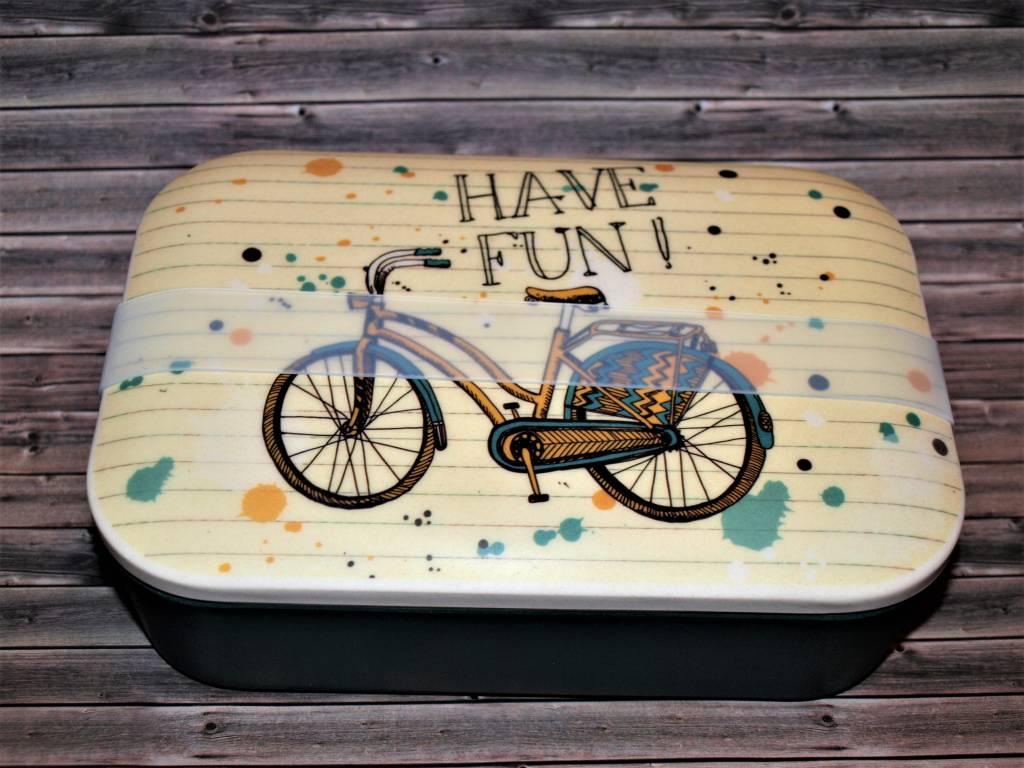 BambooCup Lunchbox Bike Fun  aus Bambus