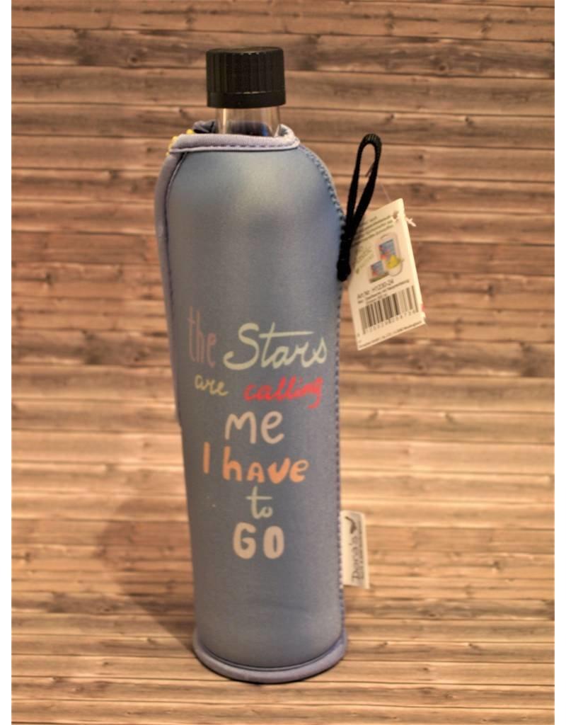 Biodora Glasflasche mit Neoprenbezug Design Einhorn