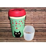 "BambooCup Bamoo Cup ""Kitty Love"" wiederverwendbarer Coffee-to-go Becher"