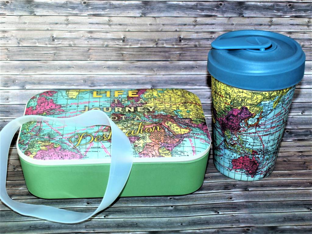 BambooCup Sparset aus Lunchbox und Bamboo Cup -Map