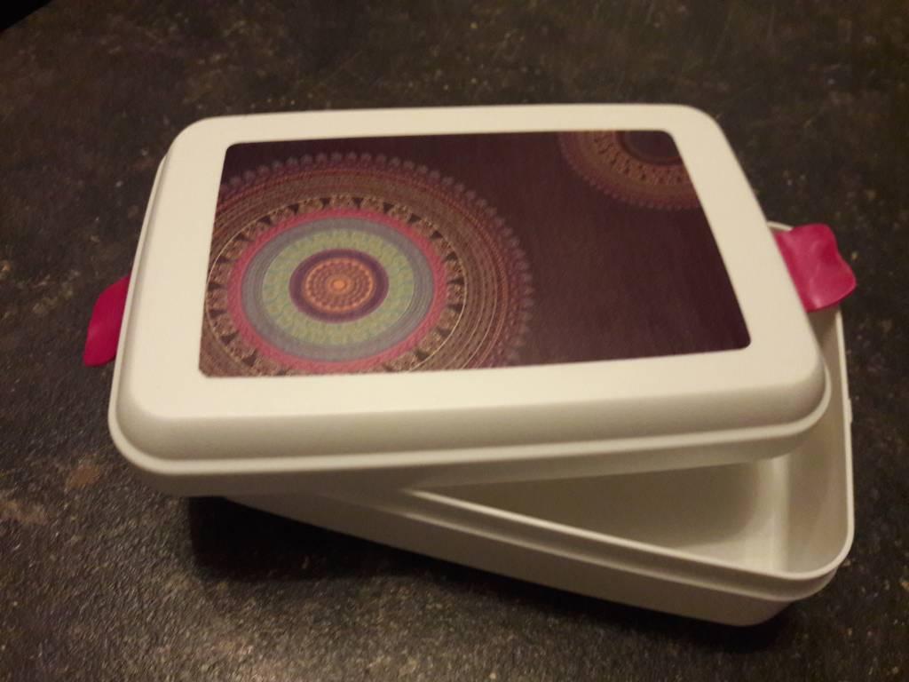 Biodora Lunchbox groß aus biologischem Kunststoff  Mandala