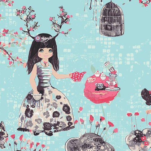 Art Gallery Fabrics Art Gallery Fabrics Wonderlandia Fondant