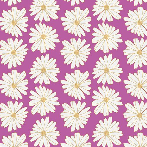 Art Gallery Fabrics Art Gallery Fabrics Daisies Lilac Scent