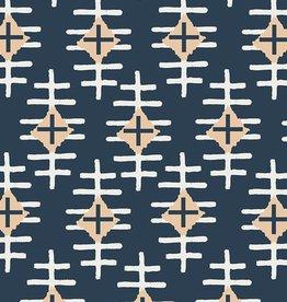 Art Gallery Fabrics Path Marker Slate in Knit