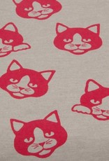 Cute Kitty beige/rood