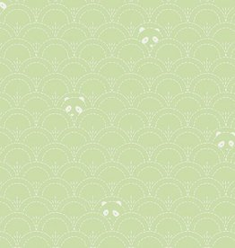 Art Gallery Fabrics Hidden Panda Leaf
