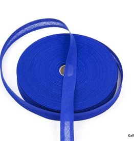 Biais katoen kobaltblauw