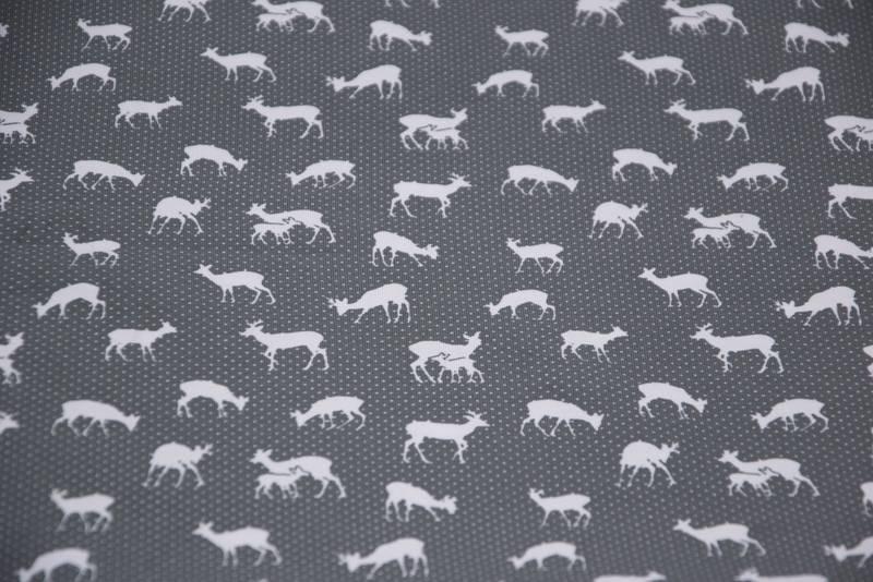 Herten wit op grijze achtergrond