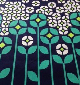 Paneelstof bloemenprint