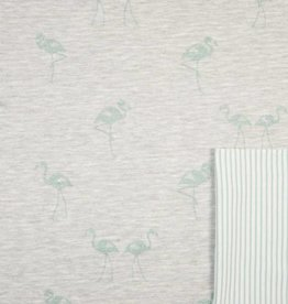 Double Face flamingo mint with stripe