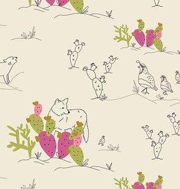 Art Gallery Fabrics Coyote & Quail Jojoba