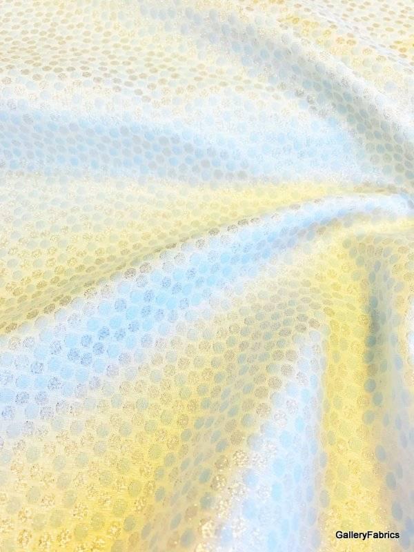 Feestelijke stof lurex (lichtblauw/zilver/wit)