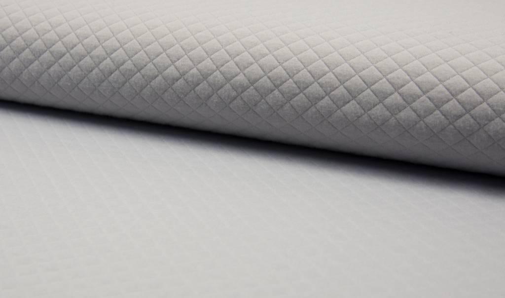 Diamond Melange Light Grey Jersey