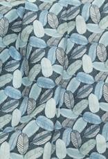 La Maison Victor COUPON 35 cm Viscosestretch leaves blue