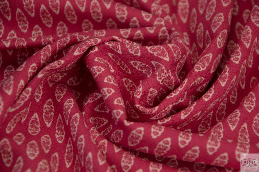 AMELIA MILANO Amelia Milano - Viscosecrêpe Cranberry Flowers