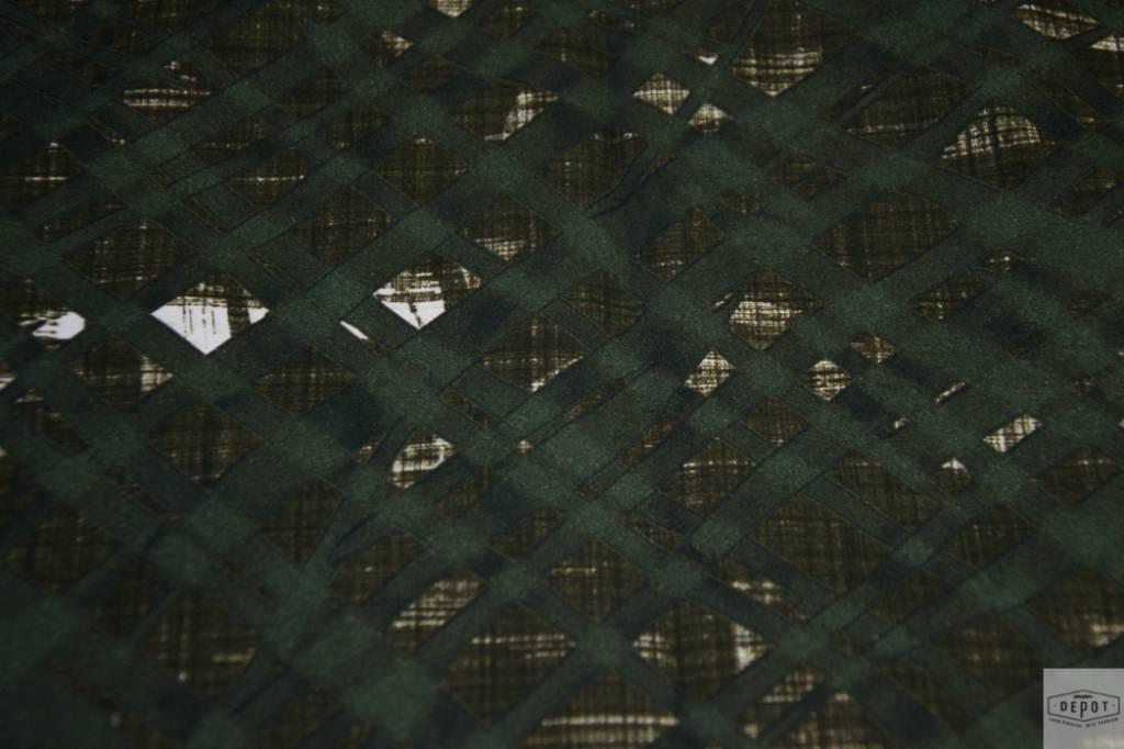 AMELIA MILANO Amelia Milano - Katoen met diagonaal ruitpatroon