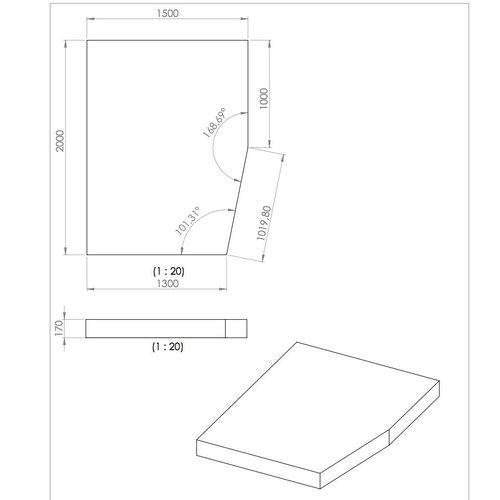 Schlafprofi24.de Wohnwagenmatratze passend für z.B Hobby UMF 650 Prestige