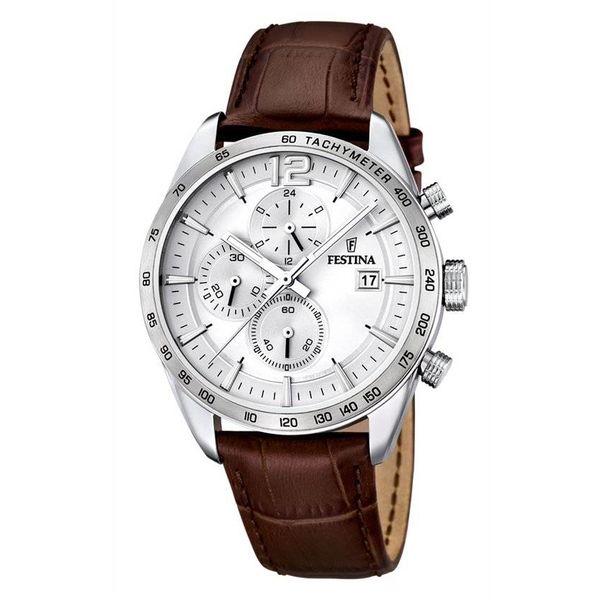 Festina Chronograph horloge F16760/1 - 44 mm - Bruin
